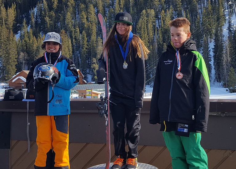 Cael McCarthy, left, finished off a run he'd been working on all season and it launched him into second in the Menehune boys class last weekend at a slopestyle event at Keystone Resort.