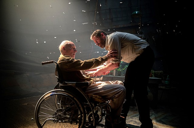 "Wolverine (Hugh Jackman) works to calm down a brain-addled Charles Xavier (Patrick Stewart) in ""Logan."" The movie is the third standalone film from the ""X-Men"" series focusing on Wolverine, set in the year 2029."