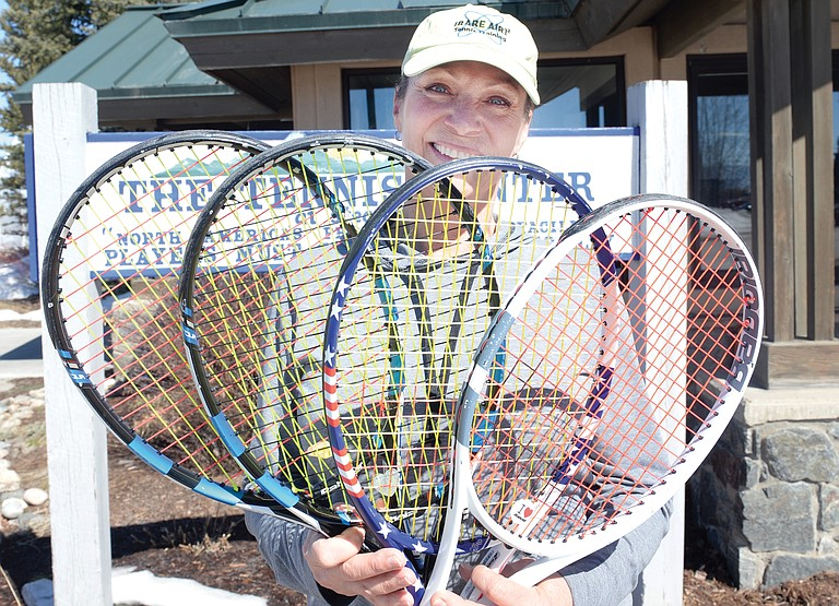 Loretta Conway says that tennis changed her life. Today she expends her energy promoting the game, and reaching out to newplayers.