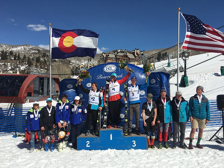 Nicolas Richeda was second in slalom at Friday's slalom race at the U16 Rocky/Central Regional Championships in Vail. Noah Riemenschneider and Marat Washburn tied for ninth.