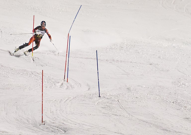 University of New Mexico Alex Barounos cuts down Howelsen Hill during a 2016 race. Barounos, who graduated from Steamboat Springs High School and trained in town, is a sophomore for the Lobos, who announced last week that they were canceling their NCAA Division 1 ski program.