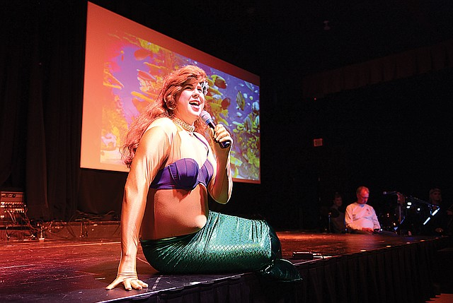 Actor David Jolly plays the part of Ariel while rehearsing for this year's Cabaret Tuesday. The opening show of this year's Rockin The Boat: Cabaret 2017 is slated for 6 p.m. Thursday at the Chief Theatre in downtown Steamboat Springs. Shows are also planned for Friday and Saturday nights. Tickets may still be available at www.chieftheater.com.