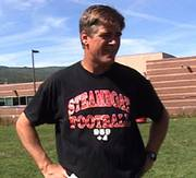 Steamboat Springs High School football coach Aaron Finch discusses the upcoming season after practice Friday.