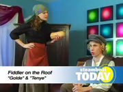 Steamboat Springs High School students Grace Stockdale and Cody Poirot (Golde and Tenye) perform a scene from Fiddler on the Roof on Steamboat Today, the morning show on Steamboat TV 18.