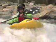 Kayakers tackle the Yampa River at Charlie's Hole in front of the Bud Werner Memorial Library.