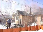 An attic fire damaged a downtown home Wednesday afternoon.