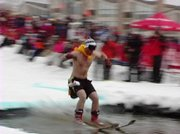 Closing day events at the Steamboat Ski Area included a pond skimming competition.