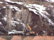 A mudslide occurred Tuesday afternoon on River Road.