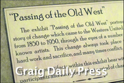 "Dan Davidson, director of the Museum of Northwest Colorado, talks about the museum's art show ""Passing of the Old West,"" which is on display till the end of the year."