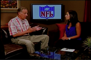 Former NFL commissioner Paul Tagliabue takes stops by the TV18 studio to chat with Harper.