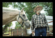 A slideshow of pictures featuring Lex Burton and his horses at his home in north Craig.