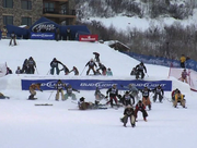 Cowboys took to the slopes at the Steamboat Ski Area Tuesday for the annual Bud Light Cowboy Downhill.
