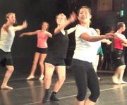 Students rehearse for the July 21, 2011, premier of their evening of dance.
