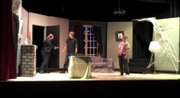 """Hayden High School students rehearse a scene from the mystery-comedy production """"Honeymoon at Graveside Manor."""" Performances are 7 p.m. Friday and Saturday at the high school with a matinee at 1 p.m. Saturday, and tickets are $5 to $10."""