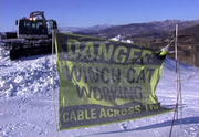 With an increasing number of people hiking at the Steamboat Ski Area, officials urge people to use caution around the winch cats.