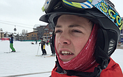 Carson Hilliker talks about attending the Sunshine Kids Winter Games camp this week in Steamboat Springs.